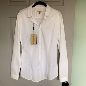 NWT Authentic Burberry London white button up